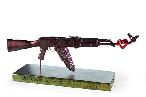 Make Love Not War ( Purple) by Dan Pearce - Original Sculpture